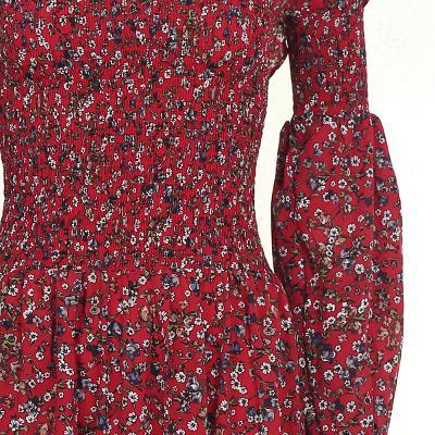 smocking detail off shoulder dress